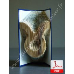 Folded book pattern taurus sign