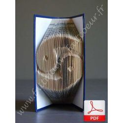 Folded book pattern cancer sign