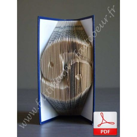 Folded book cancer sign