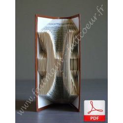 Folded book pattern pisces sign