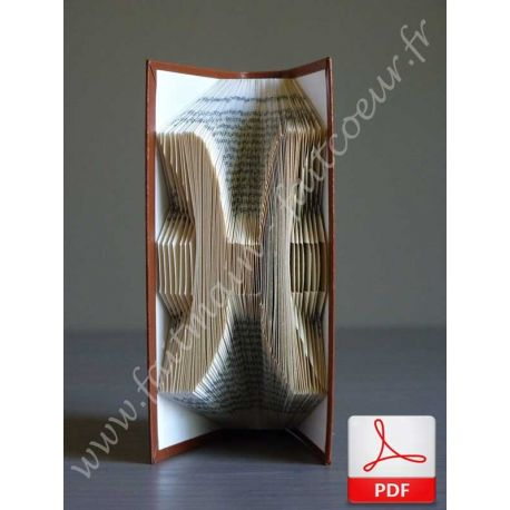 Folded book pisces sign