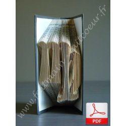 Folded book pattern virgo sign