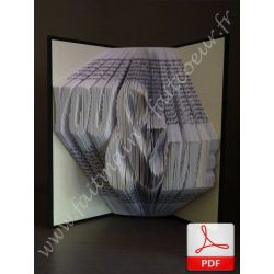 "Folded book pattern ""You & Me"""