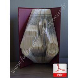 Folded book pattern vespa