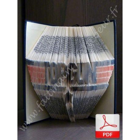 "Folded book pattern ""Top Gun"""