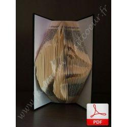 Folded book pattern Dog head