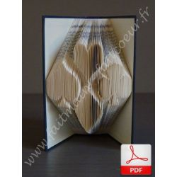 Folded book pattern cards suit