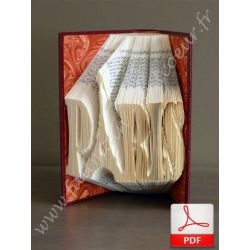 "Folded book pattern ""Paris"""