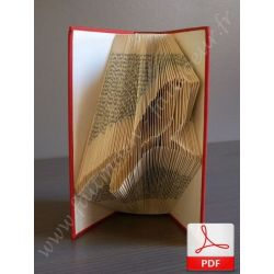Folded book pattern bird on branch