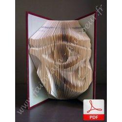 Folded book pattern eye of Horus