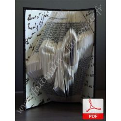 Bow ribbon folded book