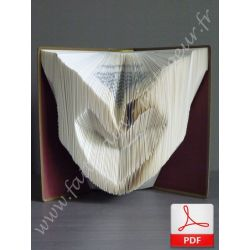 Folded book pattern hands making a heart