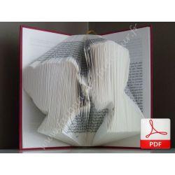 Pliage de livre amoureux