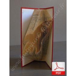 Folded book pattern rocket