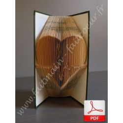 Beating heart (n°1) folded book