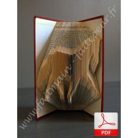 Folded book pattern horse