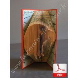 Folded book pattern eagle head