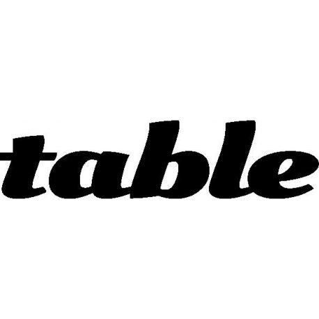 """Patron livre plié """"table"""""""