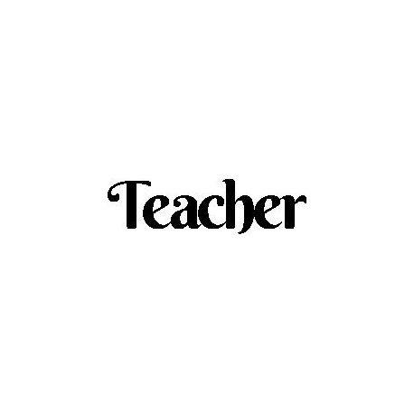 """Patron livre plié """"Teacher"""""""