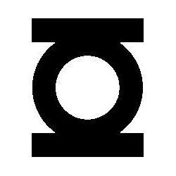Pliage de livre logo Green Lantern