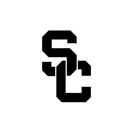 Patron livre plié logo USC Trojan