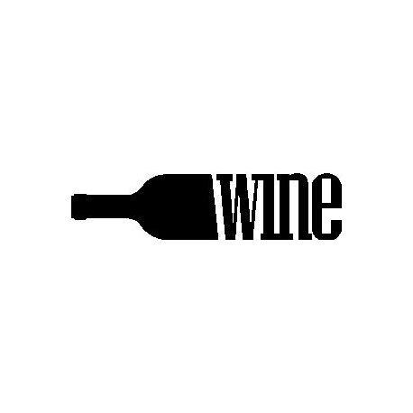 """Patron livre plié """"Wine"""" en bouteille"""