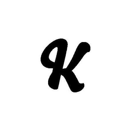 """Patron livre plié """"K"""""""
