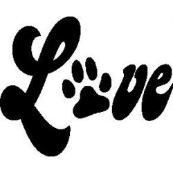"""Love"" patte de chien"