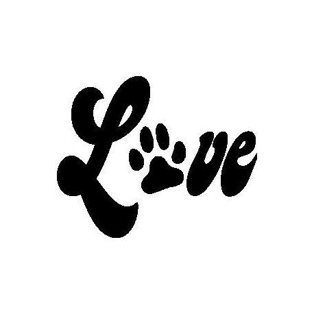 """Patron livre plié """"Love"""" patte de chien"""
