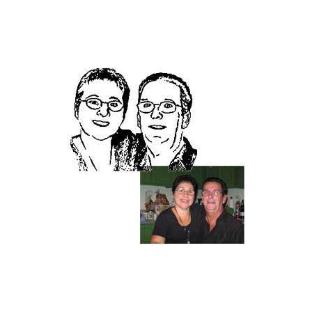 Livre plié portrait de Nicole & Lomer