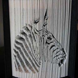 Zebra head folded book