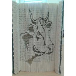 Cow head folded book