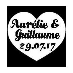 Mixte découp'pliage mariage Aurélie & Guillaume
