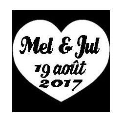 Mixte découp'pliage mariage Mélanie & Julien