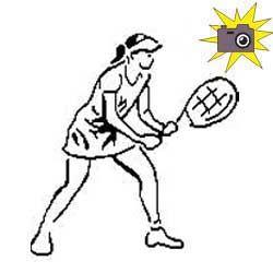 Pliage de livre joueuse de tennis