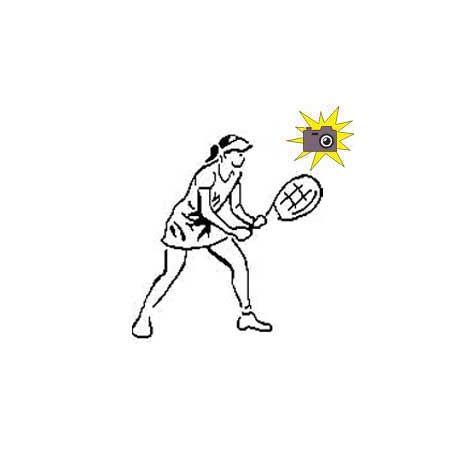 Patron livre plié joueuse de tennis
