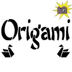 """Patron découp'pliage """"Origami"""" et grues"""