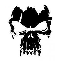Stencil tête de mort