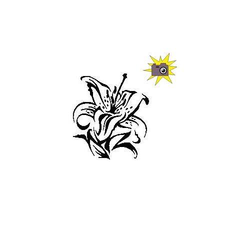 Patron découp'pliage fleur de lys