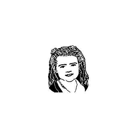 Livre plié portrait de Lola