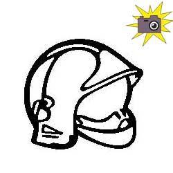 Patron livre plié casque de pompier