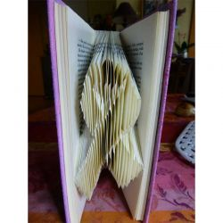 Awareness ribbon folded book