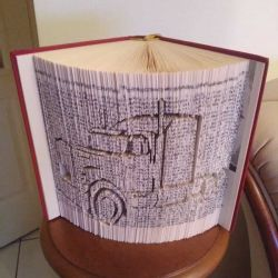 Truck tractor book folding