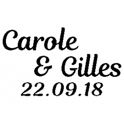 Carole & Gilles 22.09.18 folded book