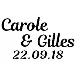Pliage de livre Carole & Gilles 22.09.18