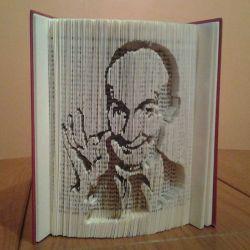 Portrait of Louis de Funès folded book
