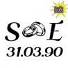 SE initials 31.03.90 book folding pattern