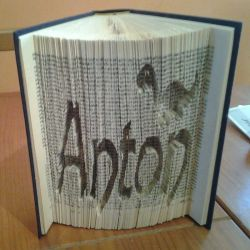 Anton + dinosaur folded book