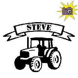 """Découp'pliage tracteur bannière """"Steve"""""""