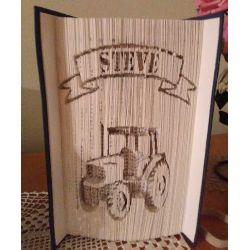 Pliage de livre tracteur de Steve